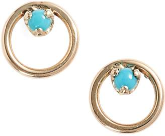 Chicco Zoe Turquoise Circle Stud Earrings
