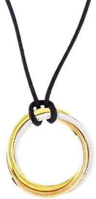 Cartier Large Diamond Trinity Necklace yellow Large Diamond Trinity Necklace