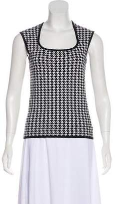 Michael Kors Knit Houndstooth Top
