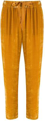 Semi-Couture Semicouture velvet cropped trousers