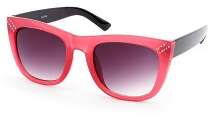 Charlotte Russe Rhinestone Trim Plastic Sunglasses