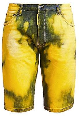 DSQUARED2 Men's Acid-Dyed Denim Shorts