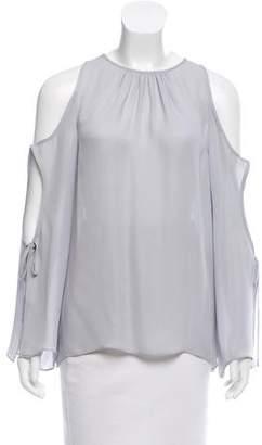 Ramy Brook Silk Cold-Shoulder Top