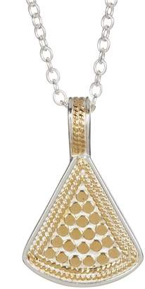 Anna Beck 18K Gold Plated Sterling Silver Reversible Fan Pendant Necklace