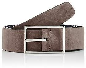 Simonnot Godard Men's Reversible Nubuck Belt - Lt. brown