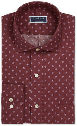 Club Room Men Slim-Fit Stretch Pine Print Dress Shirt