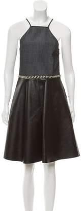3.1 Phillip Lim Flare Leather Dress
