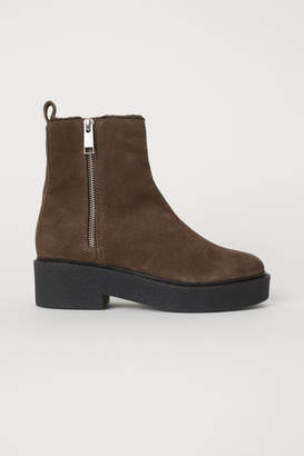 H&M Suede Boots - Beige