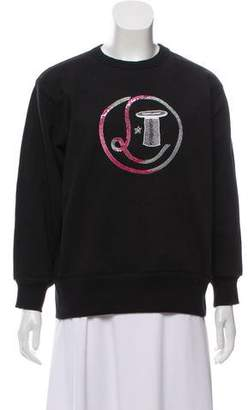 Olympia Le-Tan Embellished Crew-Neck Sweatshirt