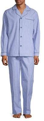 Black Brown 1826 2-Piece Poplin Pyjama Set