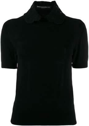 Ermanno Scervino lace-collared blouse