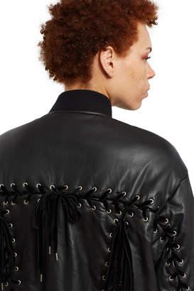 G.V.G.V. Leather Lace Up Back Jacket