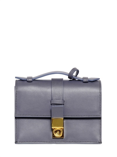 Giorgio Armani Brushed Leather Shoulder Bag