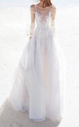 Alex Perry Bride Anna Lace Floral Embellished Gown