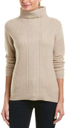Sofia Cashmere sofiacashmere Sofiacashmere Cable-Knit Turtleneck Cashmere Sweater