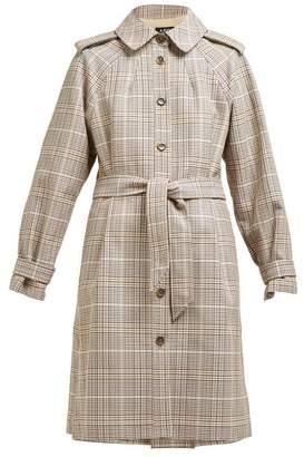 A.P.C. Ava Checked Cotton Twill Trench Coat - Womens - Beige Multi