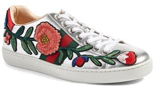 Women's Gucci 'New Ace' Low Top Sneaker $695 thestylecure.com