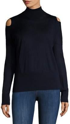 Vince Women's Wool Cold Shoulder Turtleneck Sweater