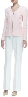Albert Nipon Tweed Zip-Jacket & Pant Suit Set $398 thestylecure.com