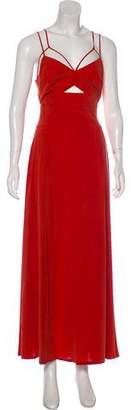 L'Agence Sleeveless Maxi Dress