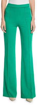 Alice + Olivia Jalisa High-Waist Fitted Flared Pants