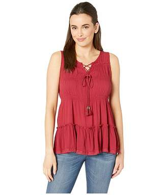 Rock and Roll Cowgirl Solid Tank Top B5-9144