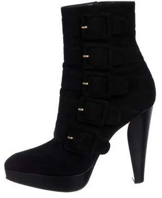 Barbara Bui Suede Platform Ankle Boots Black Suede Platform Ankle Boots