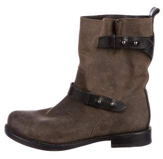 Rag & Bone Moto Suede Ankle Boots