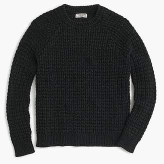 J.Crew Wallace & Barnes cotton crewneck sweater in waffle
