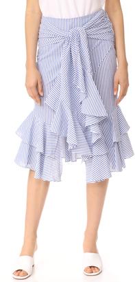 WAYF Quinn Ruffle Skirt $98 thestylecure.com