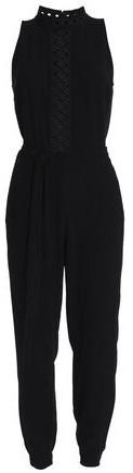 Shaunda Belted Crepe Jumpsuit