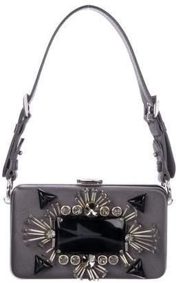 Prada Embellished Raso Ricamo Box Clutch 4584a2dda3721