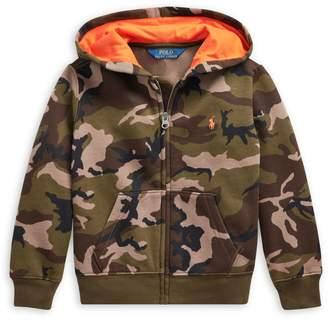 Ralph Lauren Childrenswear Little Boy's Camouflage-Print Cotton-Blend Fleece Hoodie