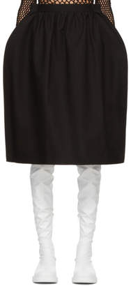 Junya Watanabe Black Oversized Gathered Skirt