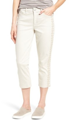 Women's Nydj Alina Embroidered Stretch Capri Jeans $88 thestylecure.com