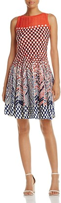 NIC and ZOE Fiore Graphic Print Twirl Dress $228 thestylecure.com