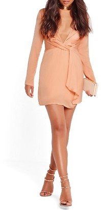 Women's Missguided Silky Wrap Front Minidress $62 thestylecure.com