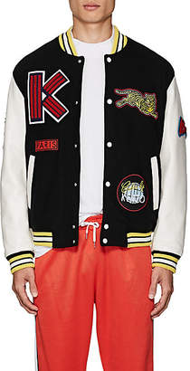 4f74aa75861e Kenzo Men s Logo-Patch Wool-Blend Melton Varsity Jacket - Black