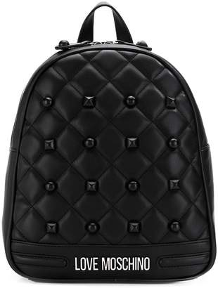 Love Moschino quilted studded backpack