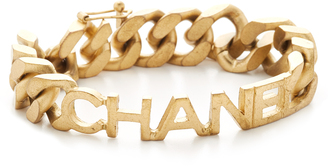 What Goes Around Comes Around Chanel Name Plate Chain Bracelet (Previously Owned)