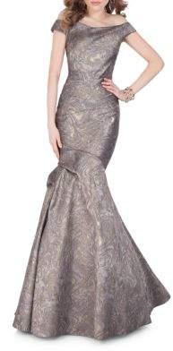 Terani Couture Glamour by Off-the-shoulder Mermaid Gown
