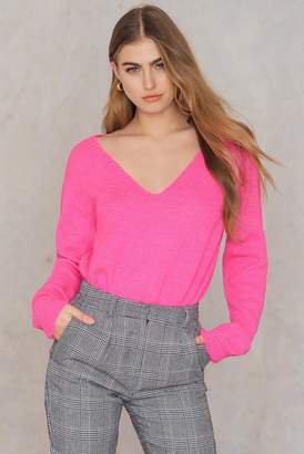 Trendyol Long Deep Neck Sweater