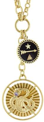 Foundrae Wholeness and Dream Medallion Mixed Belcher Necklace - Yellow Gold
