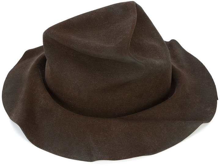 Horisaki Design & Handel wrinkled panama hat