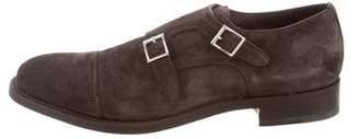 Santoni Suede Double Monk-Strap Shoes w/ Tags
