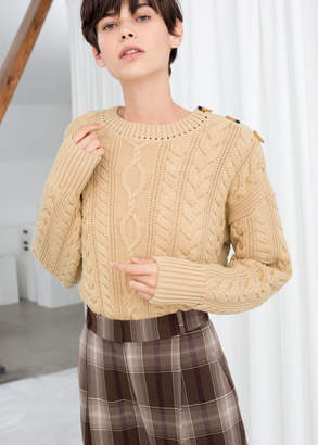 And other stories Cotton Cable Knit Sweater