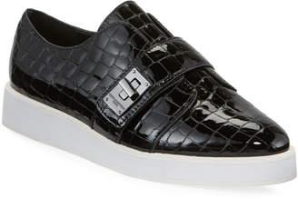 Karl Lagerfeld Paris Celina Mock Croc Patent Sneakers