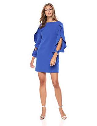 Vince Camuto Women's Ruffle Sleeve Shift Dress, 6