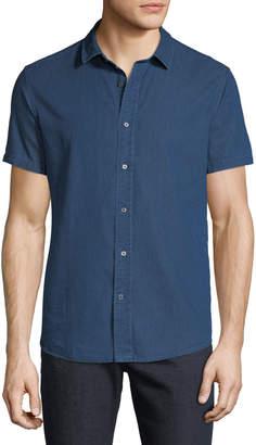 Slate & Stone Men's Short-Sleeve Chambray Sport Shirt