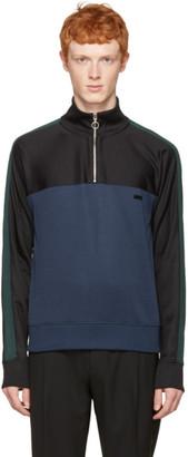 AMI Alexandre Mattiussi Navy Track Zip Pullover $275 thestylecure.com